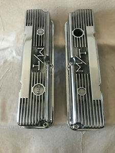 Ford Fe 352 360 390 406 427 428 Mickey Thompson Valve Covers Fresh Polish Tall