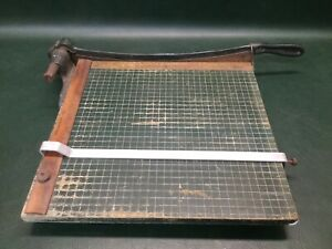 Vintage Milton Bradley Guillotine Type Paper Cutter 16 By 16