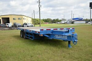 Hooper Flatbed Utility Trailer 1994 9t Gvwr 20 X 8 Pintle Hitch