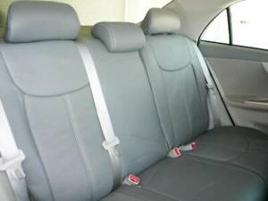 2020 Tacoma Double Cab Black Clazzio Synthetic Leather Seat Covers Kit Toyota