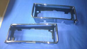 1987 1988 1989 1990 Chevy Caprice Right And Left Headlight Chrome Bezels New B