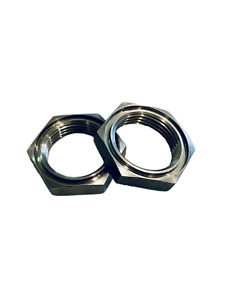 Stainless Steel 7 8 Npt X 14 Threaded Female Hex Nut 50028 pack Of 2