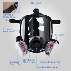 Safeyear Safety Mask Respirator Full Face Painting Spraying Gas Welding Filter