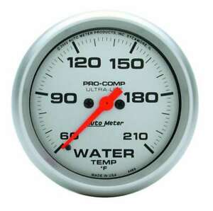 Auto Meter Ultra Lite 2 5 8in Water Temp 60 210 Electric