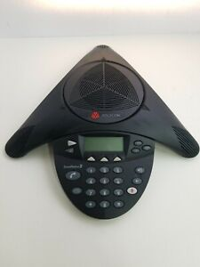 Polycom Soundstation 2 2201 16000 601 Wireless Conference Phone Caller Id Lcd