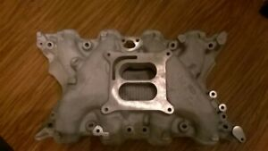 Boss 351 Intake Manifold Buddy Bar D1zx 9425 da Square Bore Carb Sonic Cleaned
