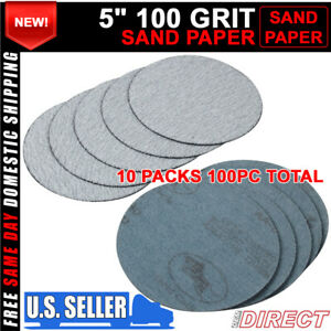 100pc 5inch 127mm 100 Grit Auto Sanding Disc Body Collision Repair Sand Paper