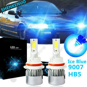 Ice Blue 9007 Hb5 Led Headlight Bulb Hi Low C6 For Ford Crown Victoria 1998 2011