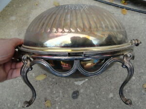 Antique Silver Plate Warmer Dome Martin Hall Serving Dish Hall Marked Old