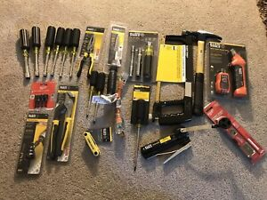 Huge Lot Of Klein Tools Electrician Hand Tools