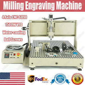 Usb 4 Axis 6090 1 5kw Vfd Cnc Router Engraver Engraving Wood Acrylic Metal Sheet