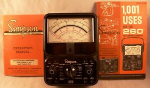 Simpson Model 260 Volt Meter With Manuals Ohm Test Multimeter Milliammeter