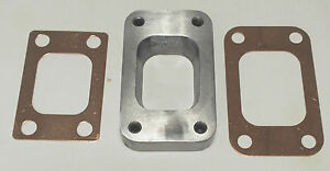 Stainless Steel T3 To T25 T28 Turbo Manifold Flange Adapter 2 Copper Gaskets