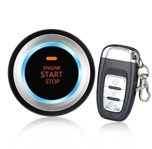 Auto Car Engine Start Push Button Keyless Entry Remote Control Alarm System Kit