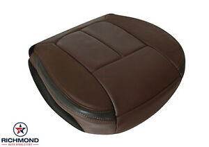 2009 2012 Ford F150 Platinum driver Side Bottom Leather Seat Cover Sienna Brown