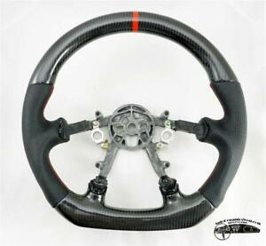 C5 Corvette Custom D Steering Wheel Real Carbon Fiber W Red Stitching