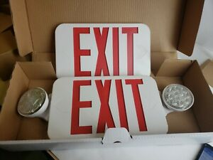 Progress Lighting Pe010 30 Exit Sign With Emergency Lights