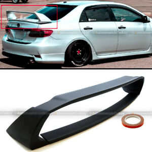 Fit 09 13 Toyota Corolla Jdm Abs Unpainted Mugen Style 4pic Trunk Wing Spoiler