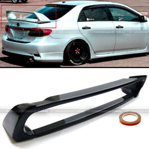 Fit 09 13 Toyota Corolla Jdm Abs Gloss Black Mugen Style 4pic Trunk Wing Spoiler