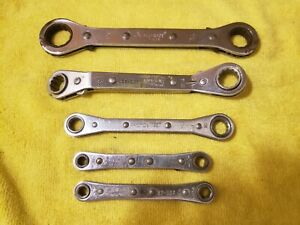 5pc Ratcheting Wrench Box End 6pt 12 Pt Alltrade Armstrong Proto Vintage