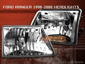 1998 1999 2000 Ford Ranger Clear Headlights Lamps 1998 2000