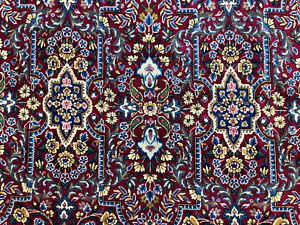 8x13 Antique Rug Hand Knotted Wool Handmade Vintage Oriental Red 8x12 9x12 9x13