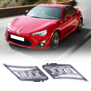 Bumper Side Marker Lights For Toyota Gt86 2013 19 Brz Fr S Side Lamps Clear Lens