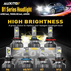 Auxito 9005 9006 9007 H4 H7 H11 H13 9000lm set Cree Led Headlight Bulbs 6500k Us
