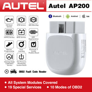 Autel Ap200 Bluetooth Wireless Obd2 Ii Car Fault Diagnostic Code Readers Scanner