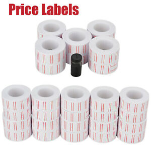 Price Label Paper Tag Sticker Mx 5500 Labeller Gun White Red Line 600 roll Us