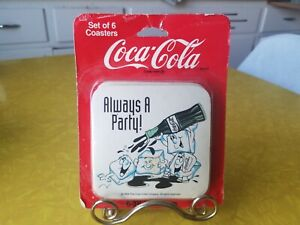 1994 Vintage Set of 6 Coca Cola Coasters In Unopened Package