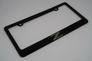 Classic Nissan Z Black Metal License Plate Frame