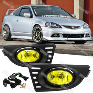For Acura Rsx 2005 2007 Yellow Lens Pair Bumper Fog Light Lamp W Wiring Switch