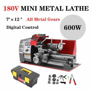 Mini Metal Lathe Automatic Wood Drilling Turning Machine 7 12 Benchtop 600w