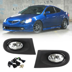 For 2002 2004 Acura Rsx Clear Lens Bumper Fog Lights W Wiring