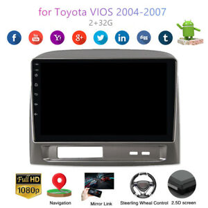 10 2 1080p Android 9 0 Car Gps Radio Player 2 32g For Toyota Vios 2004 2007
