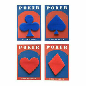 Retro Poker Bookmarks Stickers Memo Pad Sticky Notes Markers Stationery