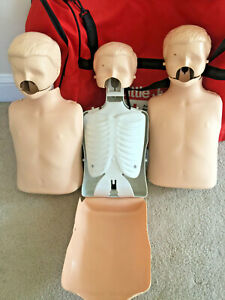4 Laerdal Little Junior Cpr Child Training Mannequin Manikin Bag Xtra Faces Lung