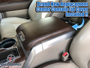 2009 2010 2011 2012 Ford F150 Platinum Ed Leather Center Console Lid Cover Brown
