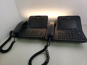 Cisco Cp 8945 Uc Phone Unified Ip Voip Video Conference Phone Lot Of 2