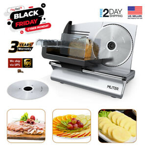 7 5 Blade 150w Commercial Meat Slicer Electric Deli Food Veggies Cutter Kitchen