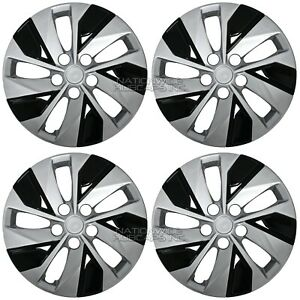 4 Silver Black 16 Wheel Covers For Nissan Altima S 2019 2020 Full Rim Hub Caps