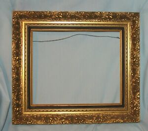Ornate Vintage Gold Gilt Layered Wood Picture Art Mirror Frame 10 X 12