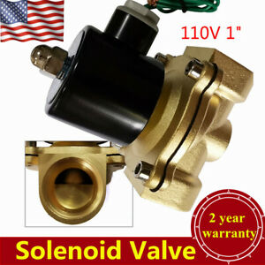 1 Npt Electric Solenoid Valve Brass Water Air Gas Normally Closed Usa Stock