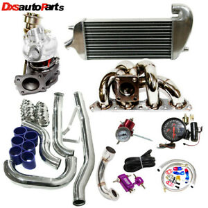 Td05 16g 70 Racing 500hp Turbocharger Full Setup Kit For 95 99 Mistsubishi New