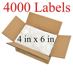 4000 4x6 Fanfold Direct Thermal Shipping Labels For Zebra Rollo Printers Usa