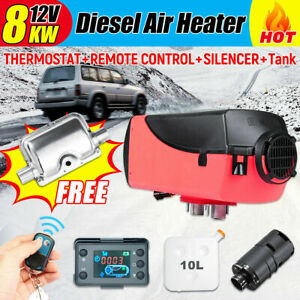 12v 8kw Diesel Air Heater Classical Lcd Thermostat For Trucks Car Boat Trailers