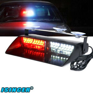 Red White Led Law Emergency Hazard Warning Strobe Light For Interior Roof Dash