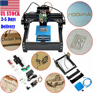 15w Mini Laser Engraving Machine Metal Steel Iron Stone Engraver Diy Printer Us