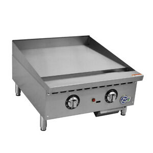 Kfe 24 Countertop Gas Griddle With Thermostatic Controls 60 000 Btu